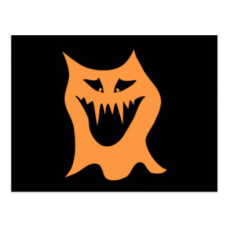 Monstruo anaranjado tarjetas postales