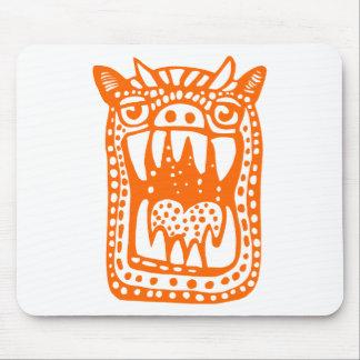 Monstruo asustadizo - naranja alfombrillas de raton