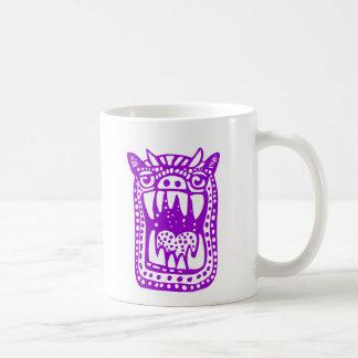 Monstruo asustadizo - púrpura taza clásica