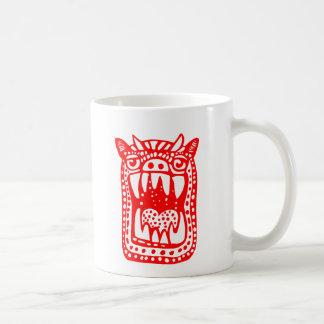 Monstruo asustadizo - rojo taza