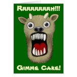 Monstruo asustadizo - torta de Gimme Felicitacion