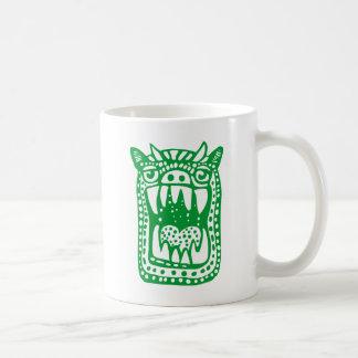 Monstruo asustadizo - verde taza