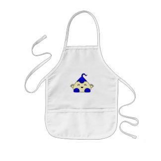 Monstruo azul de las cosquillas de Kawaii Delantal Infantil