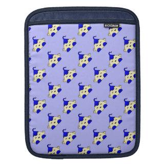 Monstruo azul de las cosquillas de Kawaii Funda Para iPads