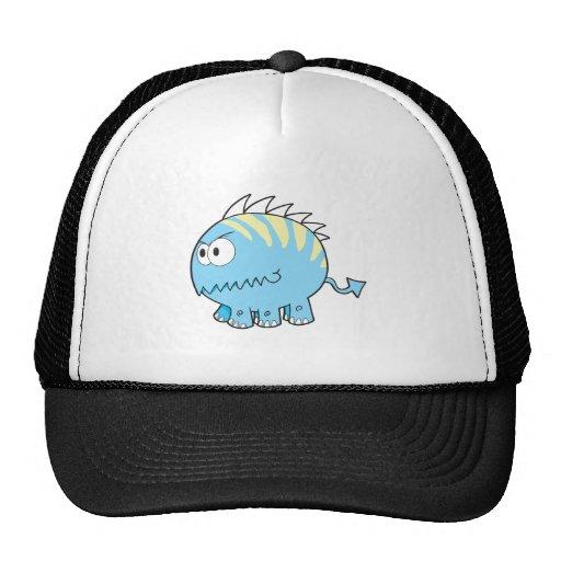 monstruo azul del mascota del spikey chompy gorras de camionero