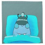Monstruo azul en dormir de la cama servilletas de papel