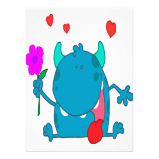 monstruo azul lindo del amor anuncios personalizados