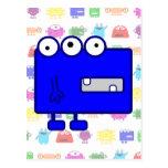 Monstruo azul lindo del dibujo animado