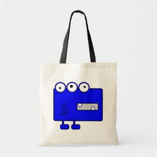 Monstruo azul lindo del dibujo animado bolsa