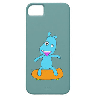 Monstruo azul lindo funda para iPhone 5 barely there