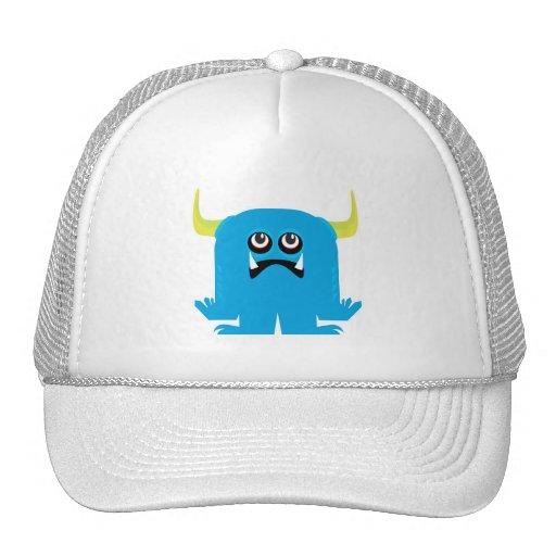 monstruo azul torpe gorras de camionero