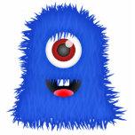 Monstruo borroso azul tuerto GRANDE Escultura Fotográfica