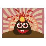 Monstruo caliente del volcán tarjetas