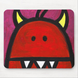 Monstruo candente mouse pad