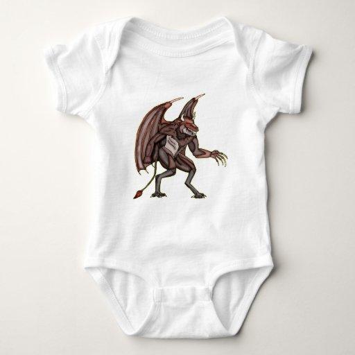 Monstruo con alas del diablo playeras