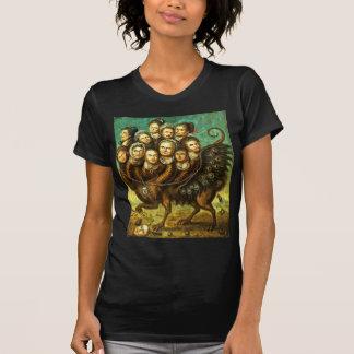 Monstruo con alas quimera del comienzo del siglo camisetas
