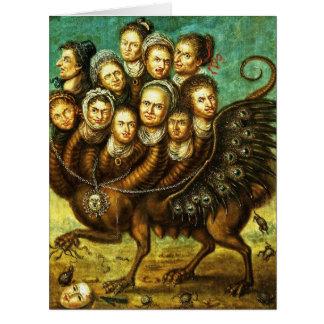 Monstruo con alas quimera del comienzo del siglo