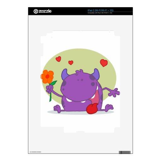 Monstruo con una flor iPad 2 skins