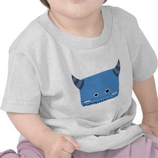 Monstruo de cuernos azul camisetas