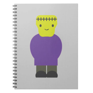 Monstruo de Cutie Frankenstein Spiral Notebooks
