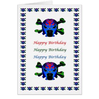 Monstruo de FIreHead - cumpleaños de HappyBirthday Tarjeta De Felicitación