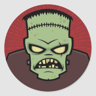 Monstruo de Frankenstein Pegatina Redonda