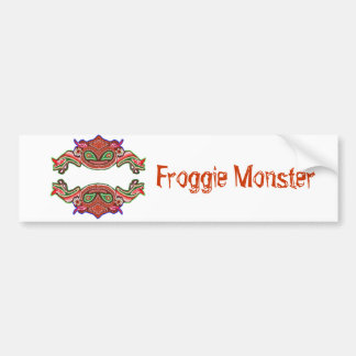 Monstruo de Froggie - dibujo animado de la rana Pegatina Para Auto