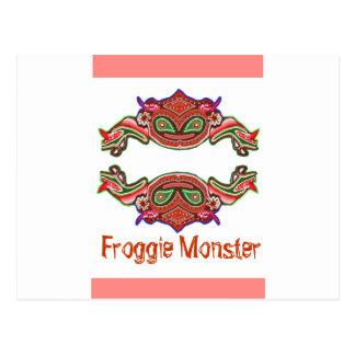 Monstruo de Froggie - dibujo animado de la rana Postales