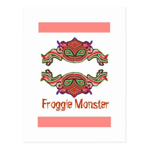 Monstruo de Froggie - dibujo animado de la rana Tarjeta Postal