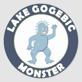 Monstruo de Gogebic del lago Pegatina Redonda