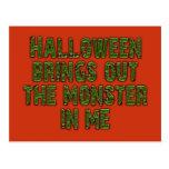 Monstruo de Halloween en mí (verde de Tarjetas Postales