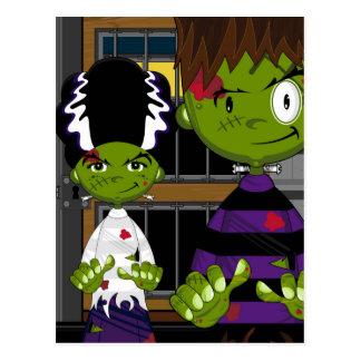 Monstruo de Halloween Frankensteins del dibujo Postales