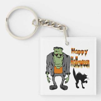 Monstruo de Halloween - llavero del gato negro