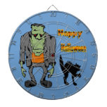 Monstruo de Halloween - tablero de dardo del gato  Tablero De Dardos