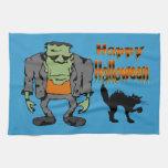 Monstruo de Halloween - toallas de cocina del gato