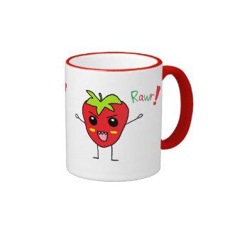 Monstruo de la fresa taza a dos colores