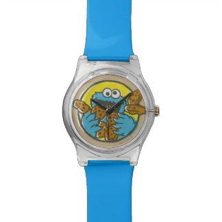 Monstruo de la galleta retro relojes de pulsera