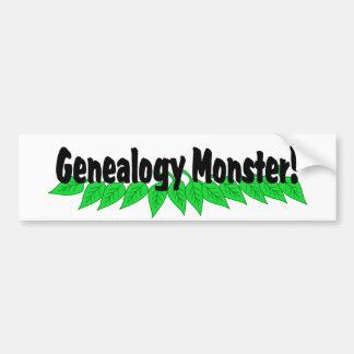 Monstruo de la genealogía pegatina de parachoque