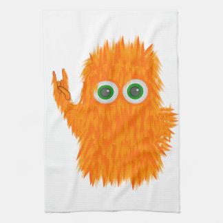 Monstruo de la música toalla de cocina