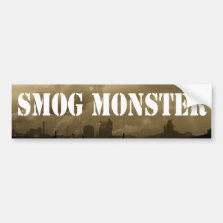Monstruo de la niebla con humo pegatina para auto