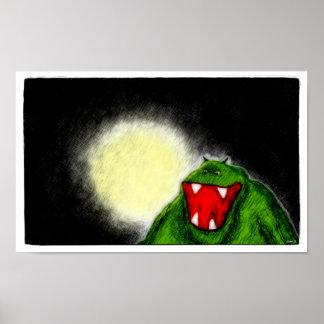 Monstruo de la noche impresiones