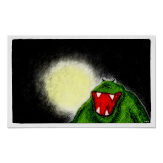 Monstruo de la noche póster
