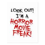 Monstruo de la película de terror tarjetas postales