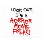 Monstruo de la película de terror tarjeta postal