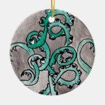 Monstruo de la planta del globo del ojo ornamentos de navidad