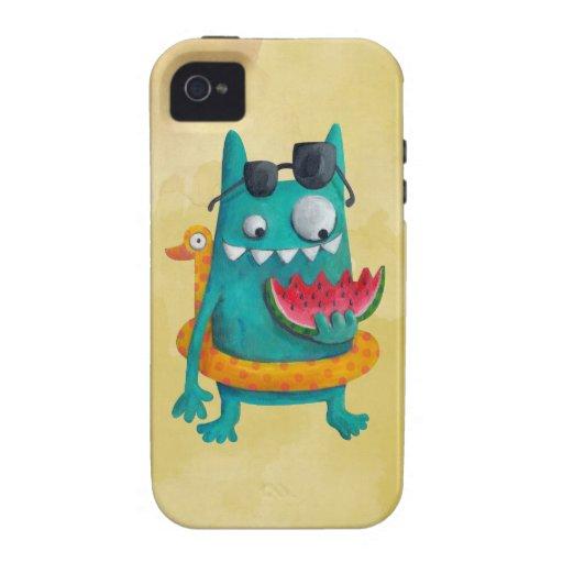 Monstruo de la playa del verano iPhone 4/4S funda