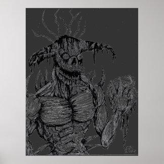 Monstruo de la rutina posters