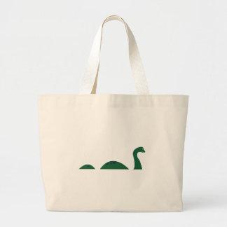Monstruo de Loch Ness Bolsa De Tela Grande