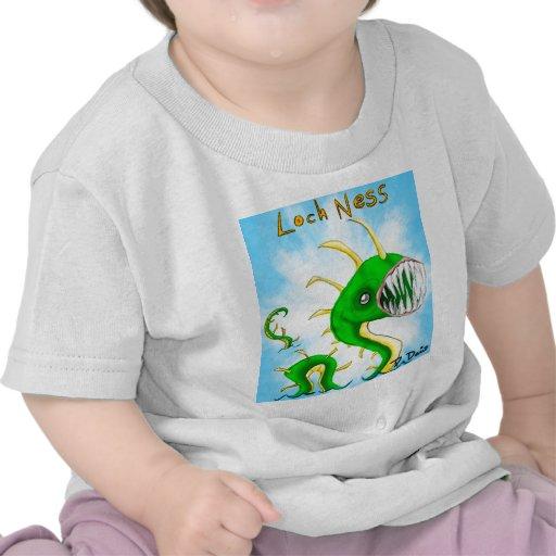 Monstruo de Loch Ness - camiseta del bebé