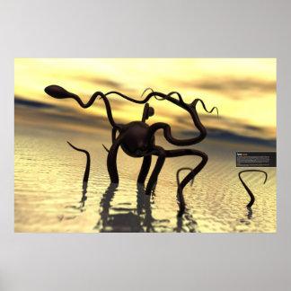 ¡Monstruo de Loch Ness! (monstruo del agua) Póster
